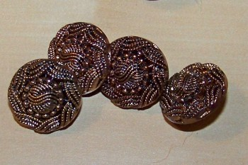 Embossed Antique Brass Buttons