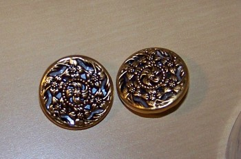 Embossed Gold Buttons