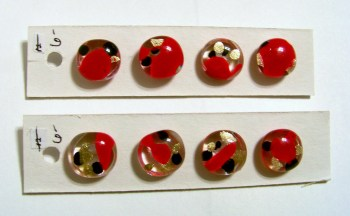 Red Marble Buttons