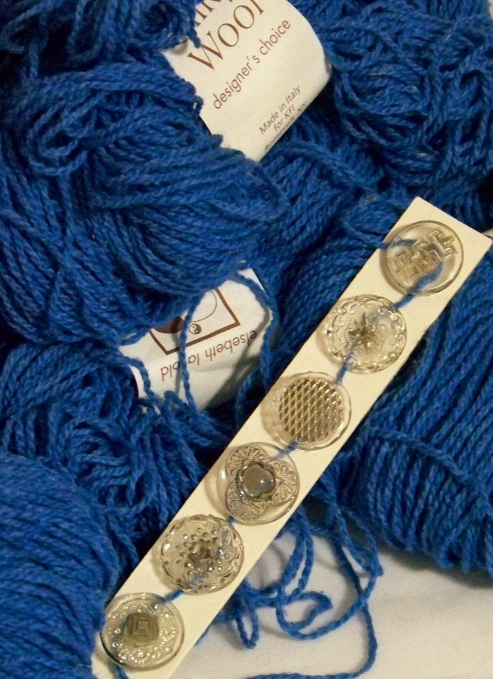 Blue with Glass Buttons 2