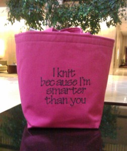 Knit Because I'm Smarter Bag