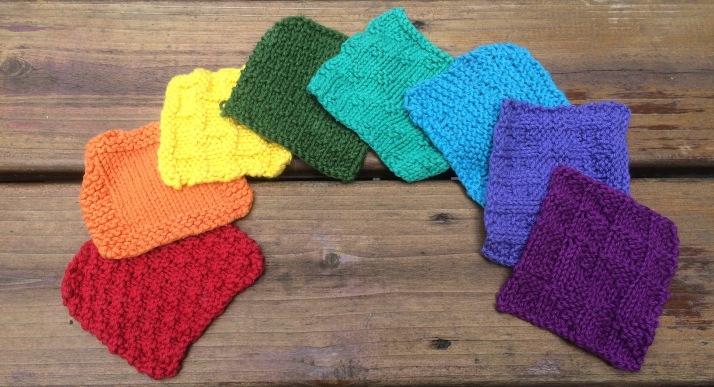 Rainbow Dishcloths