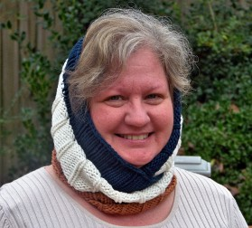 Ribby Striped Cowl 3