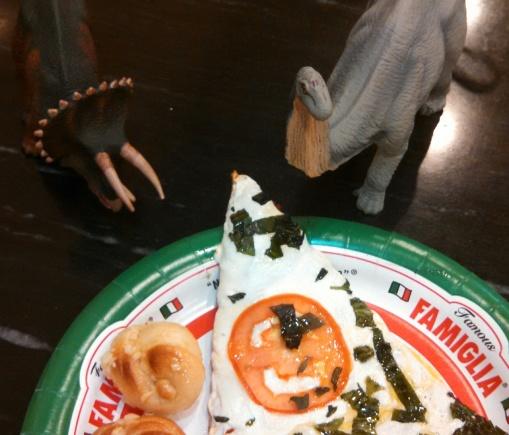 Dinos Grab a Slice