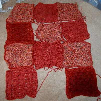 Orange Sampler Afghan 1